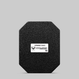 "AR500 Armor Lightweight Level III+ Square Back Plate - 10""x12"" - Base Coat Only"