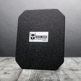 "AR500 Armor Level III+ Square Back Plate - 10""x12"" - Base Coat Only"