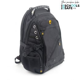 PROSHIELD II - BLACK Multimedia bulletproof backpack w/ built-in auxiliary port.