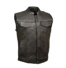 Talos Ballistics NIJ IIIA Bulletproof Men's Rebel OC Leather Biker Vest (size: Small)